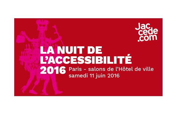 Affiche nuit de l'accessibilité 2016